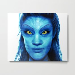Angelina Jolie Avatar Metal Print