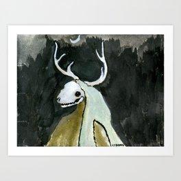 Deer Beast Art Print
