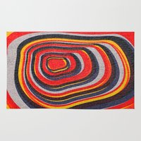 eternal sunshine Area & Throw Rugs featuring Eternal by Josh Franke