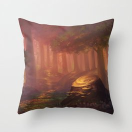 The Uncharted Backwoods Throw Pillow