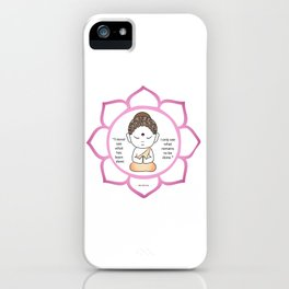 Cute little Buddha in a lotus flower iPhone Case