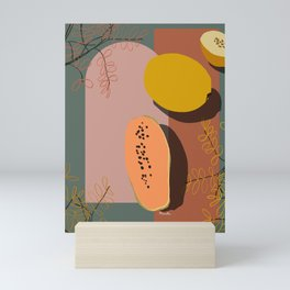 Olive Trees and Papaya Mini Art Print