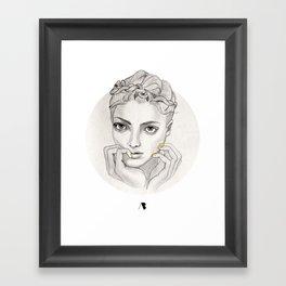 MY FAIR BRAIDY // CIRCLE Framed Art Print