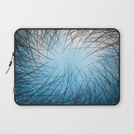 Cyan Linear Crosshatch Laptop Sleeve