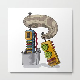MACHINE LETTERS - R Metal Print
