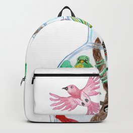 Birds in a Bottle Watercolor Painting Backpack