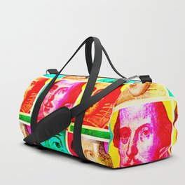 WILLIAM SHAKESPEARE (COLOURFUL POP ART COLLAGE) Duffle Bag