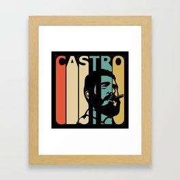 Fidel Castro Retro Framed Art Print