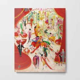 'Spring Sale Soireé at Bendels' Jazz Age New York City Portrait by Florine Stettheimer Metal Print