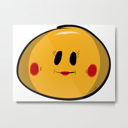 Cute Girl Smiley Metal Print