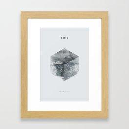 Minimalist Travel Poster - Earth Framed Art Print