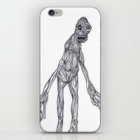 muscle iPhone & iPod Skins featuring Muscle Man by Nick Gibney