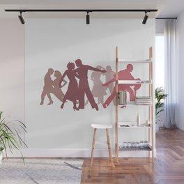 Latin Dancers Illustration Wall Mural