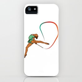 Gymnastic turn design for gymnasts who love gymnastics iPhone Case