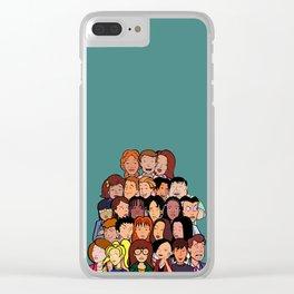 Daria Cast Clear iPhone Case