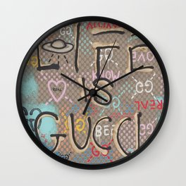 LifeIsGucci Wall Clock