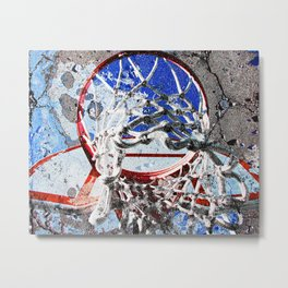 Basketball Sports Art Metal Print