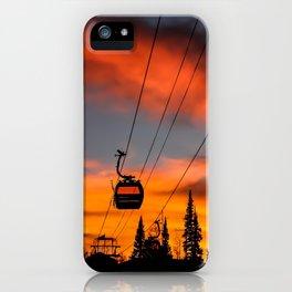 Paint the Sky Orange iPhone Case