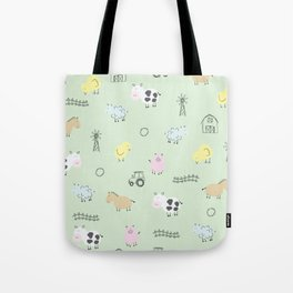 Cute Little Farm Animals Tote Bag