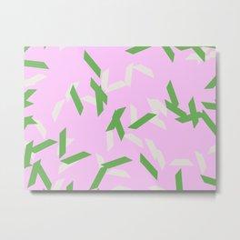 random trapezoids pattern_lavender Metal Print
