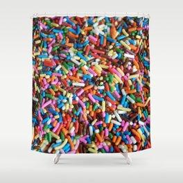 Rainbow Sprinkles Shower Curtain
