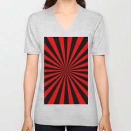 Starburst (Black & Red Pattern) Unisex V-Neck