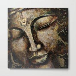 Buddha face painting Metal Print