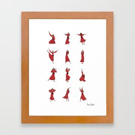 Kate Bush - Wuthering Heights - Illustrated Dance Routine Framed Art Print