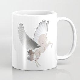 Abstract Digital Art White Pegasus Fantasy Magical Coffee Mug