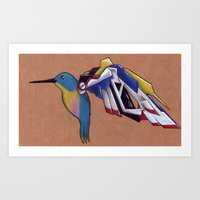 gundam Art Prints featuring Gundam Wing by charalanahzard