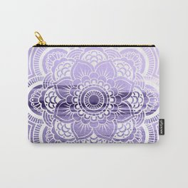 Water Mandala Lavender Carry-All Pouch