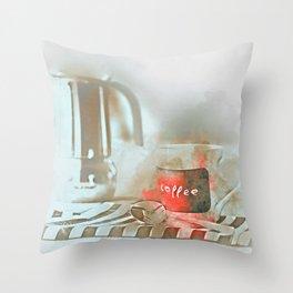 Coffee cup and mug drink Throw Pillow