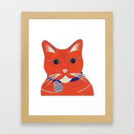 Cute Ginger Cat Framed Art Print