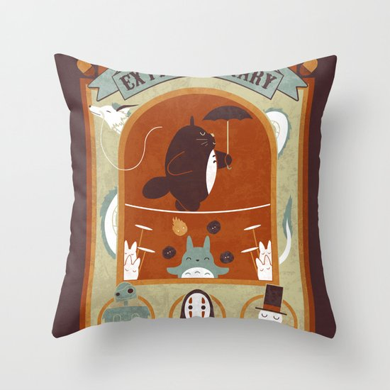 The Moving Circus Throw Pillow