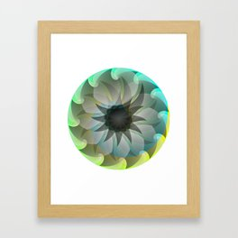 Spiral Shark Framed Art Print