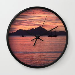 Palawan Sunset 2 Wall Clock