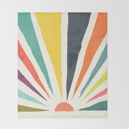 Rainbow ray Throw Blanket