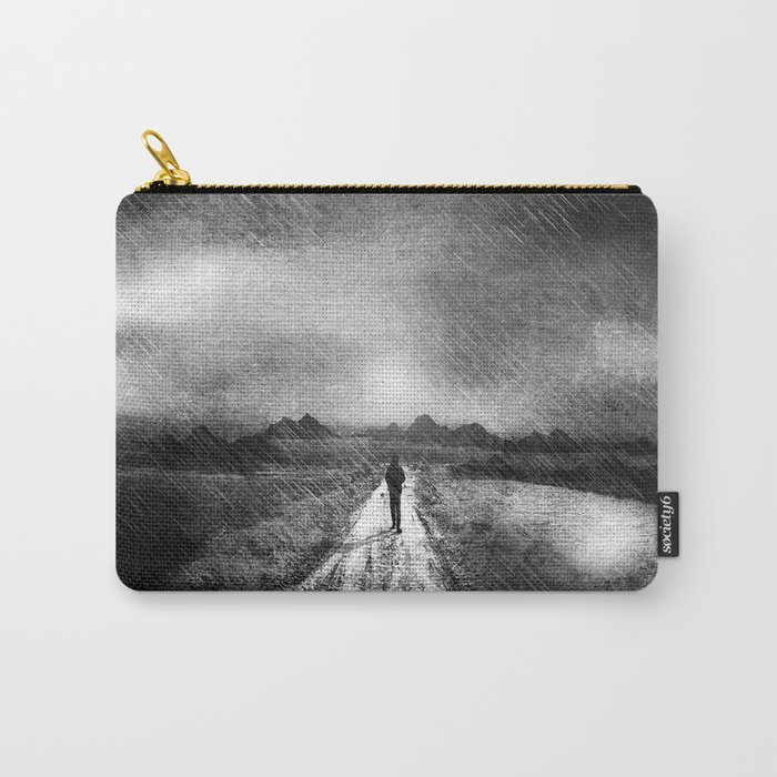 it's raining again (b&w) Carry-All Pouch