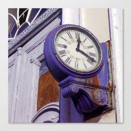 Old Clock at Train Station Canvas Print