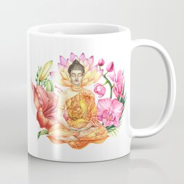 Buddha in flowers Coffee Mug