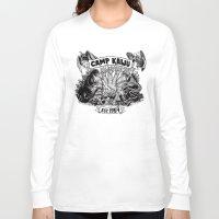 kaiju Long Sleeve T-shirts featuring Camp Kaiju by Austin James