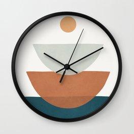 Minimal Shapes No.34 Wall Clock