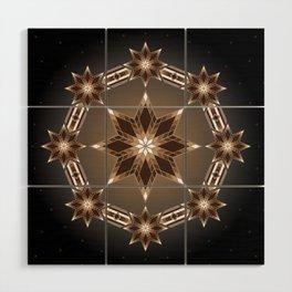 Morning Star Circle (Brown) Wood Wall Art