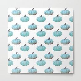 Teal pumpkins, Thanksgiving, alternative, fall Metal Print