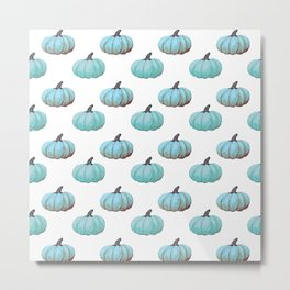 Teal pumpkins, Thanksgiving, alternative, fall Metal Print
