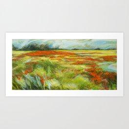 Le vent de la plaine Art Print