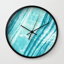 Abstract Marble - Teal Turquoise Wall Clock