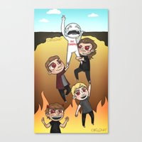 cyrilliart Canvas Prints featuring Drag Me Down To Hell by Cyrilliart