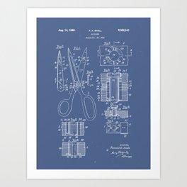 Patent Art - Scissors Breakout Exploded-view Art Print