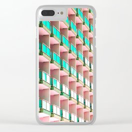 Pastel Repetition Clear iPhone Case